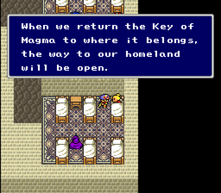 You'd think that if their legend was as specific as it is in the English version that they'd have been on a super-long quest to find this particular key