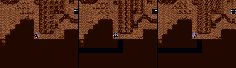 This secret passage is disappointing in all versions