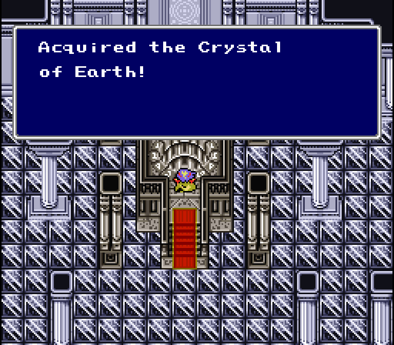You know, what's this crystal room doing at the bottom of a deep, scary, dark cave anyway? I doubt the Dark Elf built it... so what's the deal? Do the crystals create their own 'homes'? Or is this something brought up in the sequel?