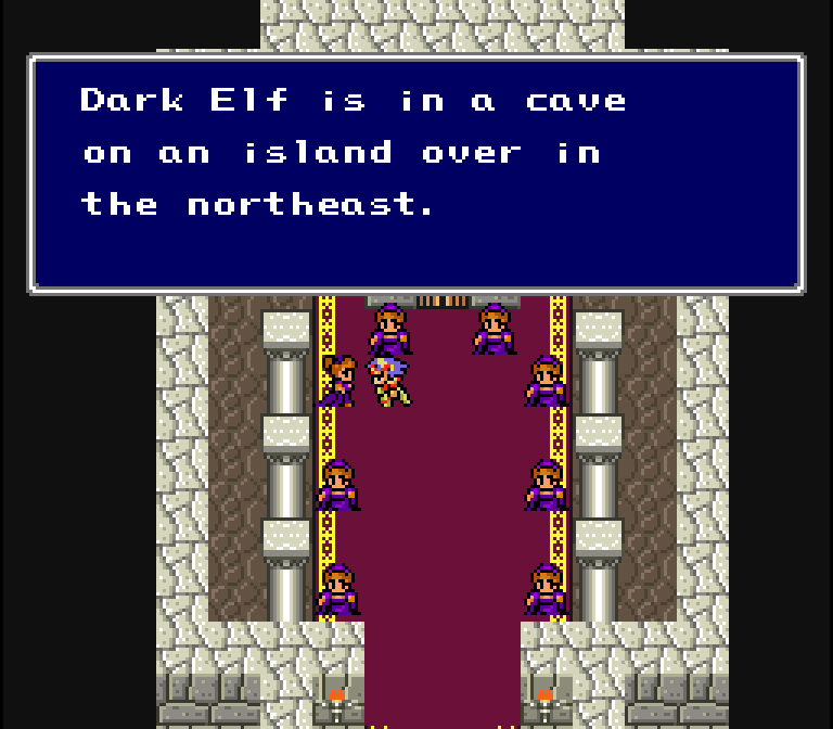This scene and this translation almost feel like they could've been taken straight from Final Fantasy 1