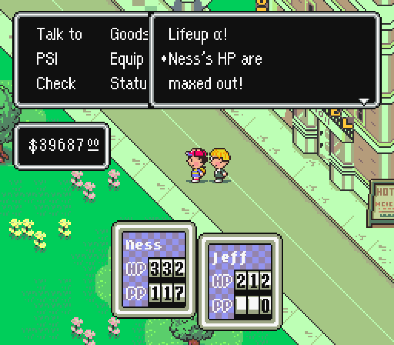 Achievement Unlocked: EarthBound Mentioned 80 Times in One Page About FFIV. Also, a whole page could be written about the apostrophe-s in this screenshot too