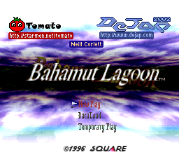 To be honest, I had little to do with this title screen but I take responsibility for not saying no to it...