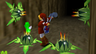 Does Ocarina of Time have Farting Cabbages?
