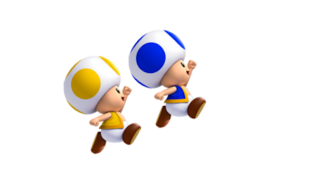 Colored Toads in New Super Mario Bros.