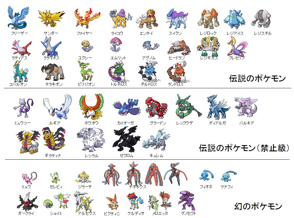 What do japanese fans call these legendary pokemon - Pokemon argent pokemon rare ...