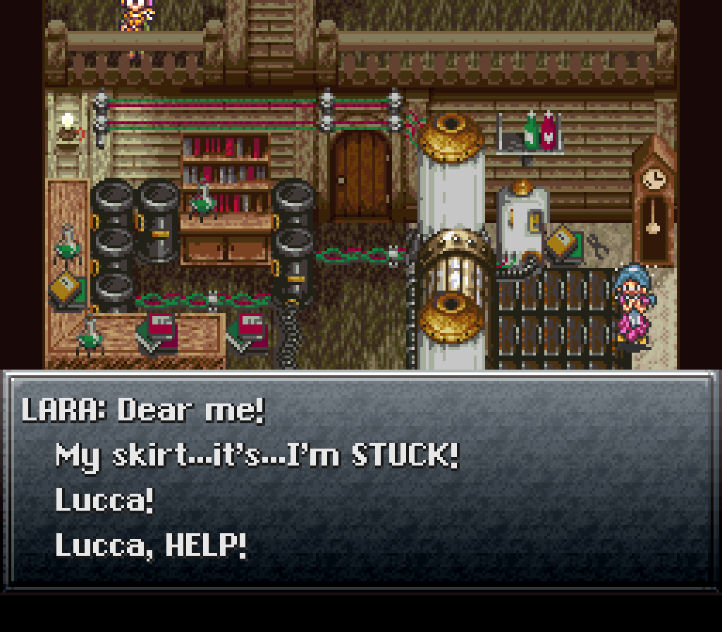 You Have to Save Lucca's Mom a Different Way in Japanese
