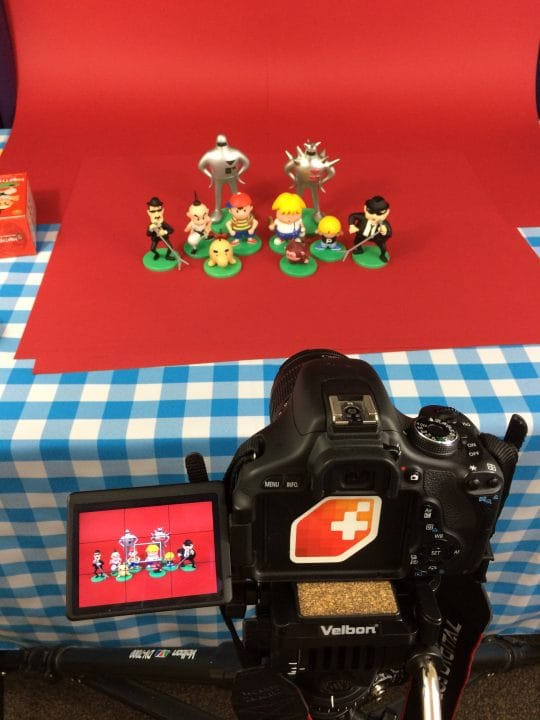Photo shoot for EarthBound book
