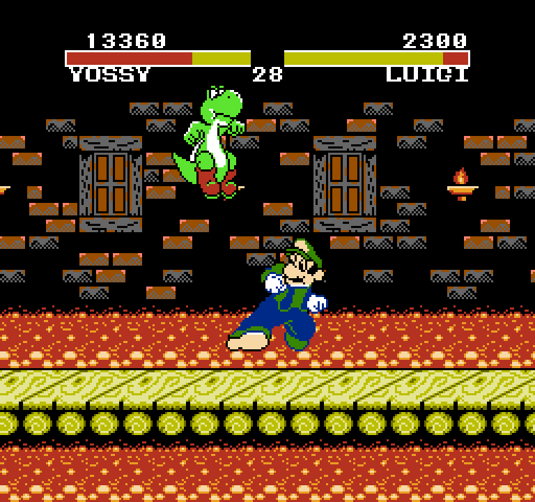 Yossy in the bootleg NES game - Kart Fighter.