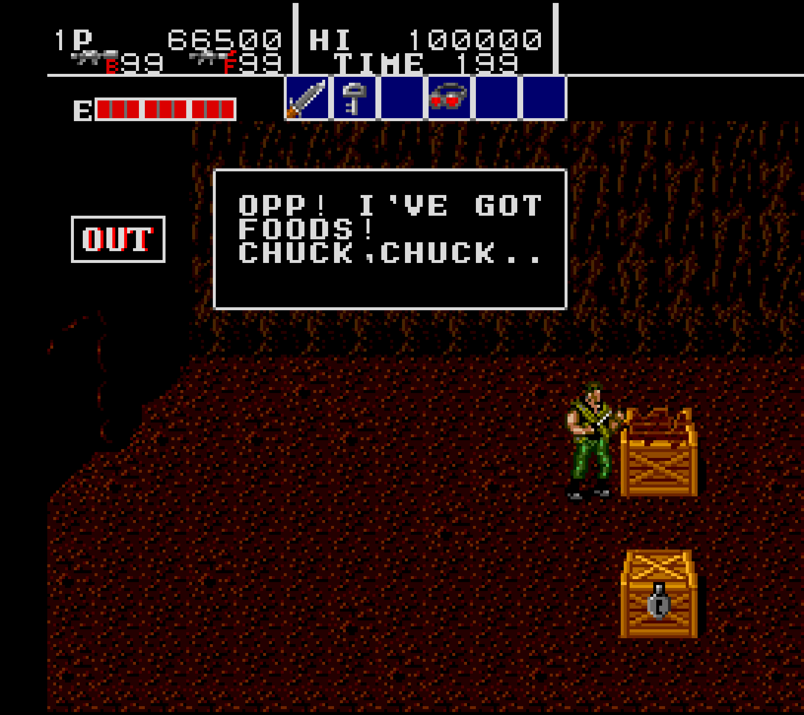 Opp! I've got foods! Chuck,chuck..