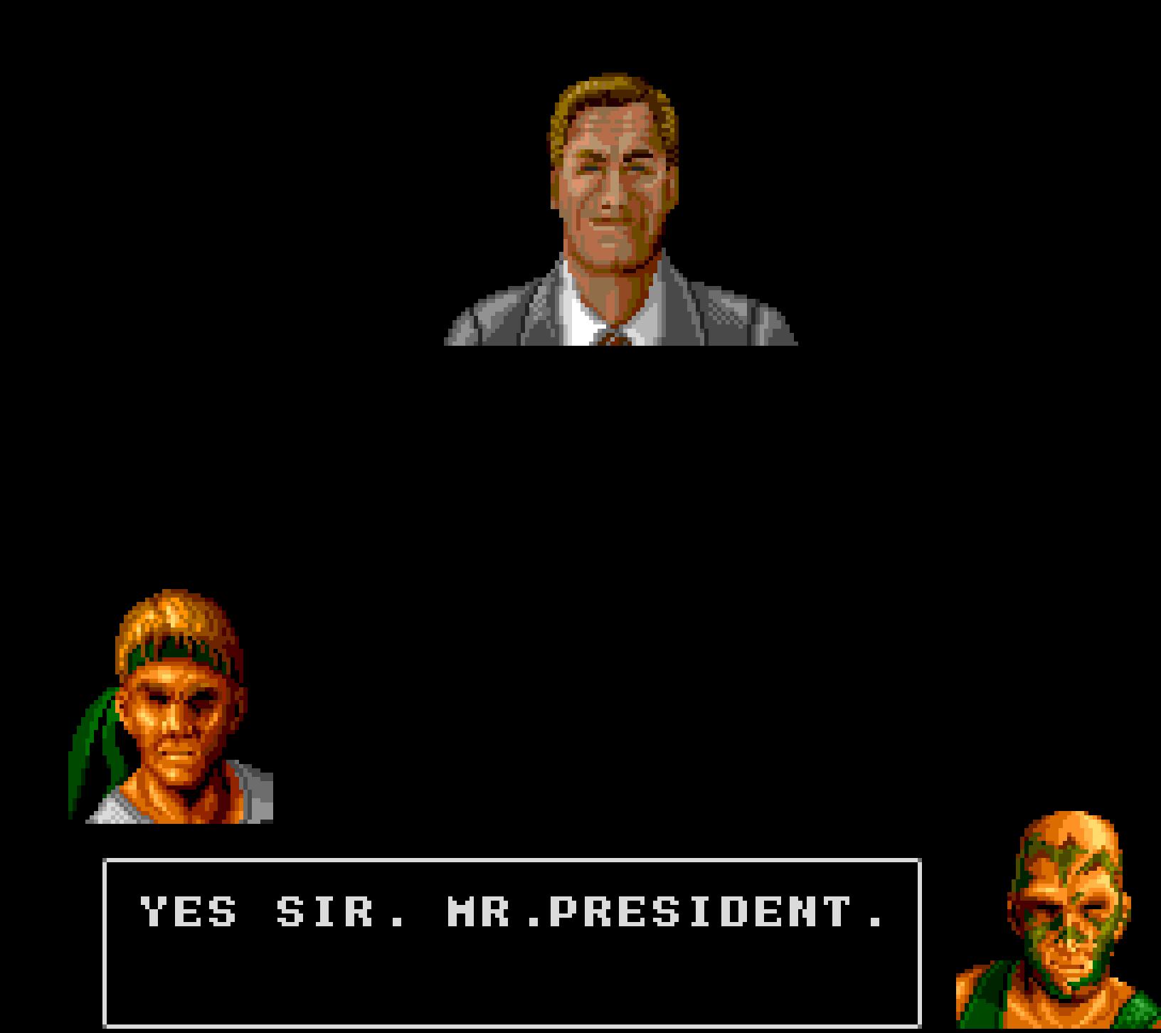 Yes sir. Mr.President.