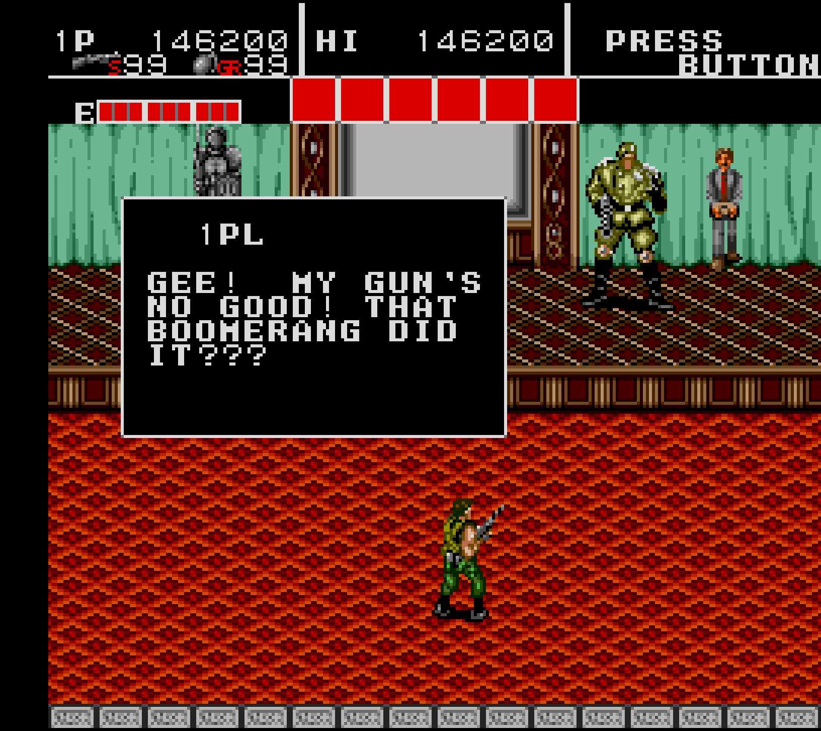 Gee! My gun's no good! That boomerang did it???