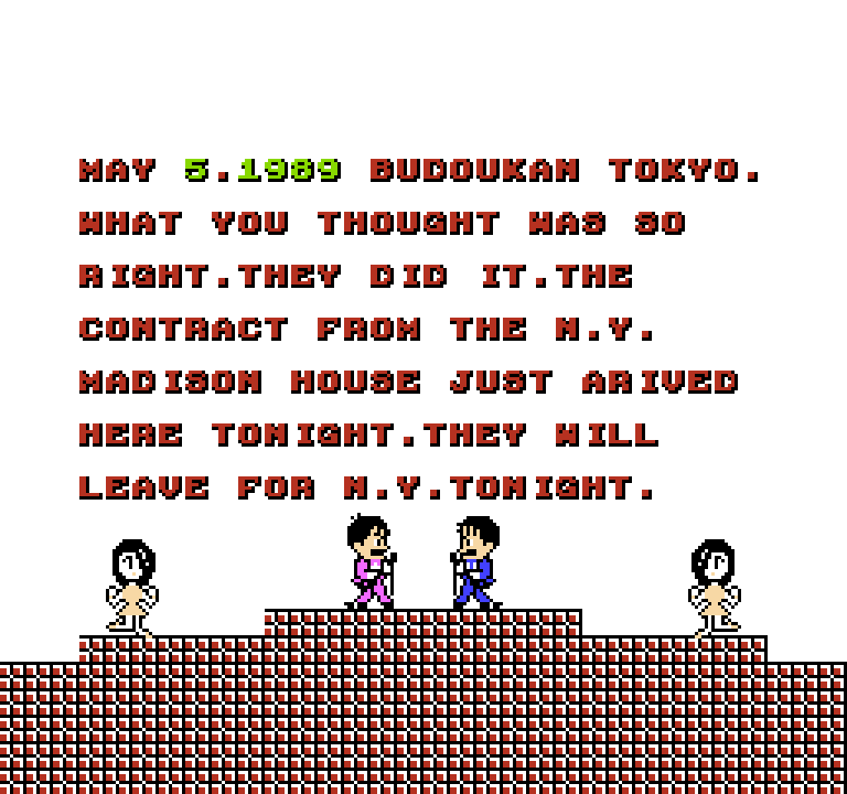 May 5.1989 Budoukan Tokyo. What you thought was so right. They did it. The contract from the N.Y. Madison House just arived here tonight. They will leave for N.Y. tonight.