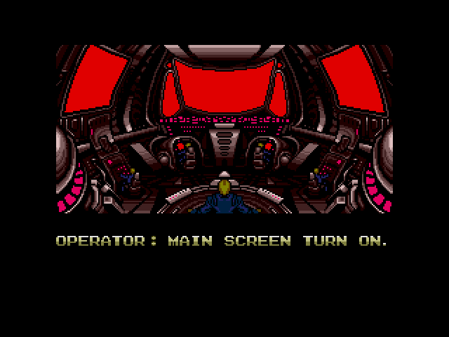 Operator: Main screen turn on.
