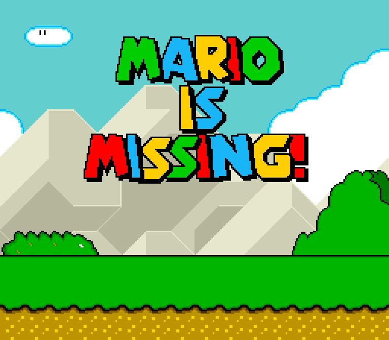 Super NES title screen
