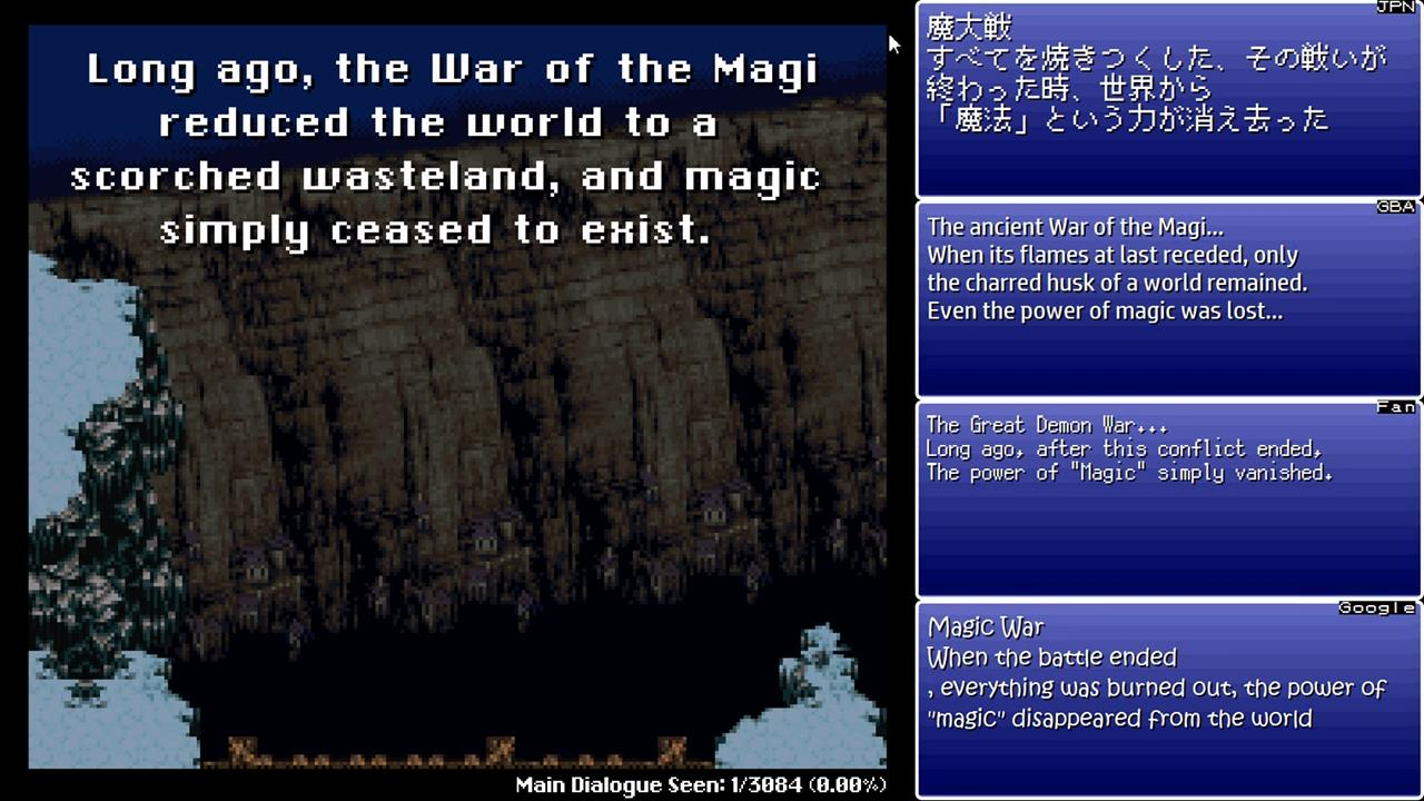Final Fantasy VI Translation Comparison « Legends of Localization