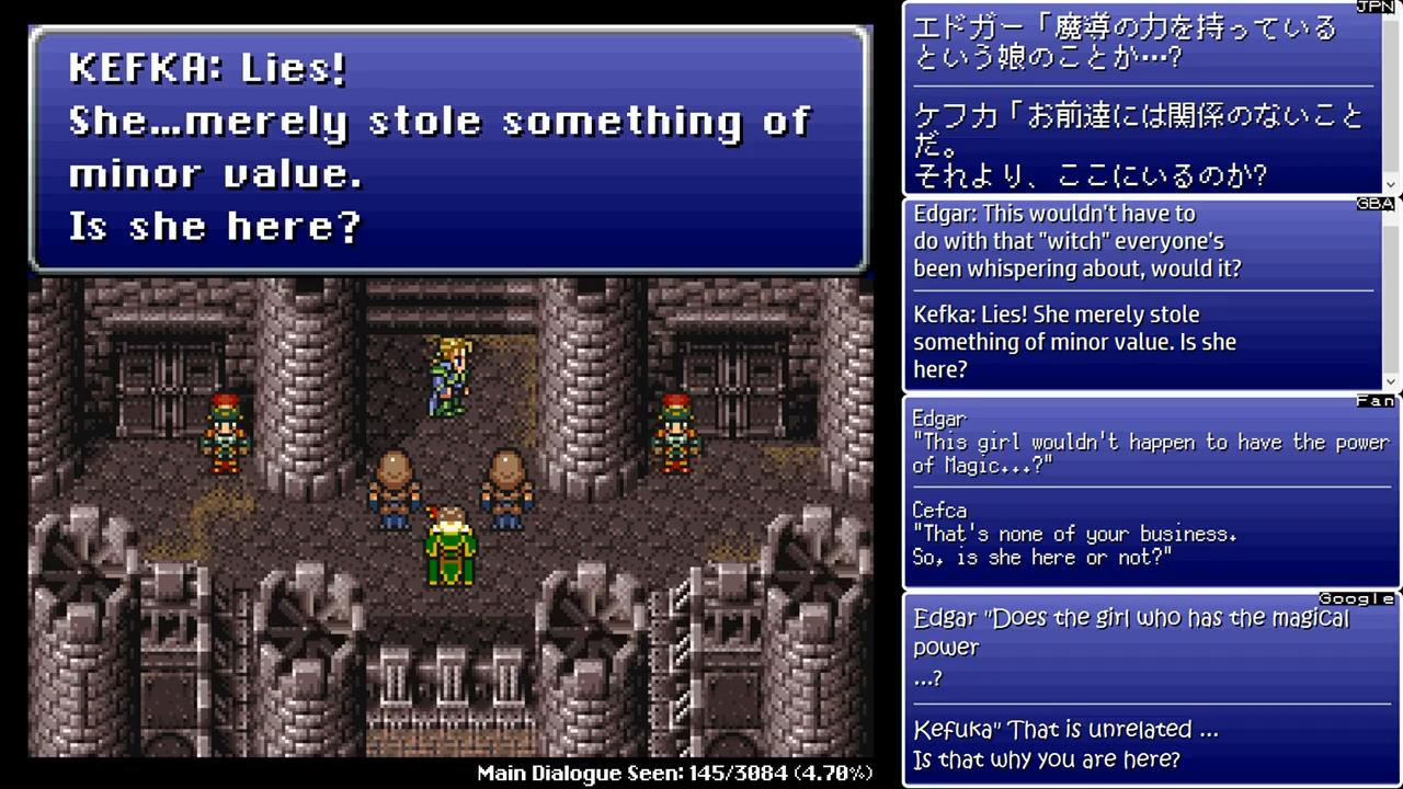 Final Fantasy VI Translation Comparison « Legends of