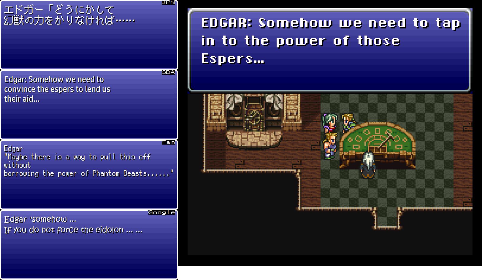 Final Fantasy VI Translation Comparison (Part 9) « Legends of