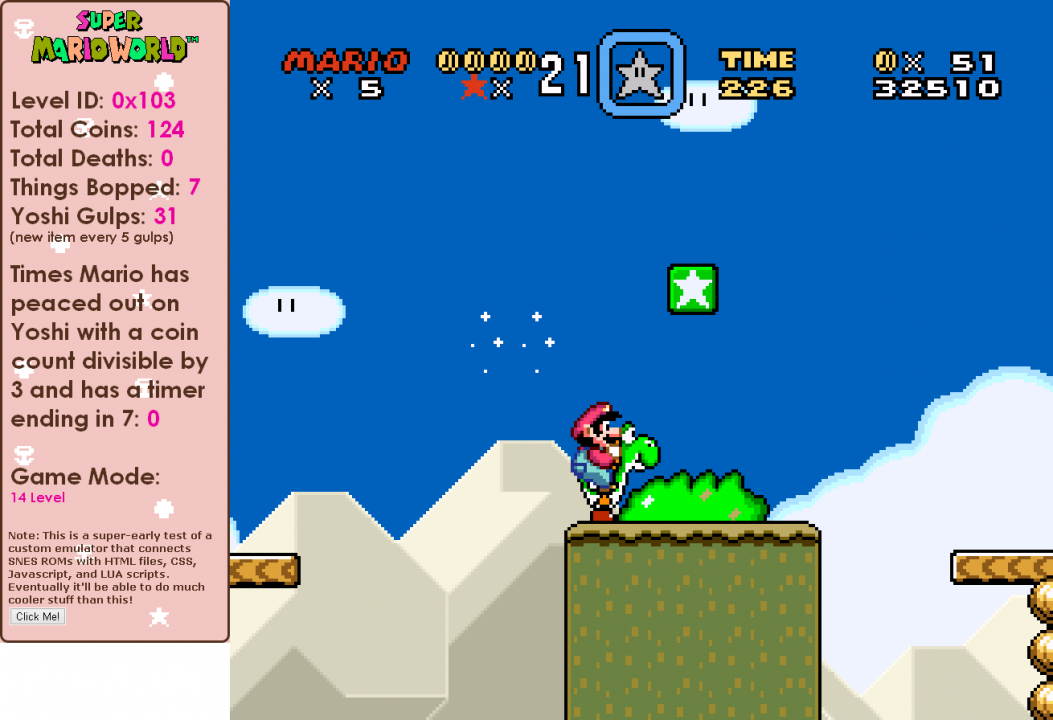 I also designed the plugin so that every five Yoshi gulps you do, weird stuff will happen
